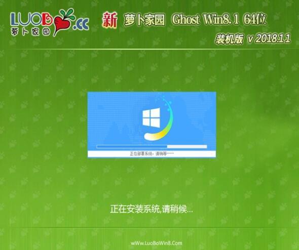 萝卜家园Ghost Win8.1 64位 极速装机版 v2018.11