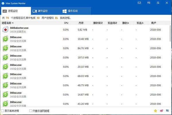 wise system monitor(系统监视器) v1.4.8 绿色中文版