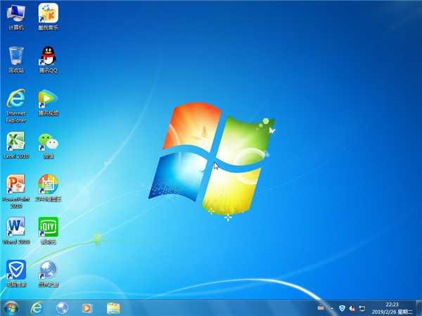 GHOST WIN7 X64 快速安装版 v201904
