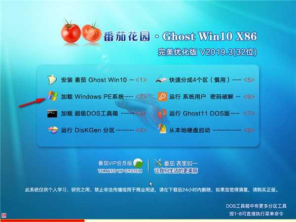 番茄花园GHOST WIN10 32位 完美优化版 v201903